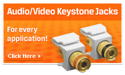 Audio video keystone jacks