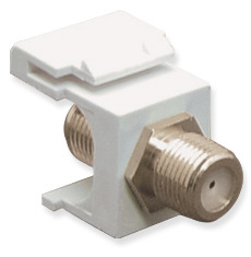 ICC Cabling Products: IC107B5FWH F Connector Keystone Jack
