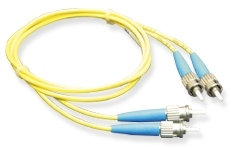 ICC: 2 Meter ST-ST Duplex Single Mode Fiber Patch Cable