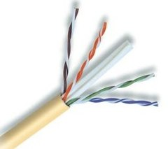 Cabling Plus: Yellow CMP Rated 550 MHz Cat 6 Cable