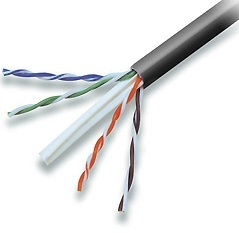 Cabling Plus: CMR Rated 550 MHz Black Cat 6 Cable