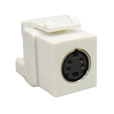 ICC Cabling Products: IC107SVIWH S Video Keystone Jack