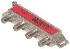 Steren: One-Side 3 Way Coaxial Cable Splitter