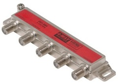 Steren: One-Side 4 Way Coaxial Cable Splitter