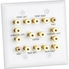 Datacomm 45-0070 7.2 Surround Sound 2 Gang Speaker Wall Plate