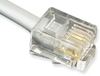 ICC ICLC625FSV 6P6C Pin 2-5 Pre-Terminated Telephone Cable 25 foot