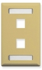 ICC IC107S02IV Ivory Single Gang 2 Port Station ID Keystone Wall Plate