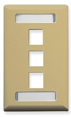 ICC Cabling Products: Ivory 3 Port Station ID Wall Plate