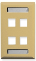 ICC Cabling Products: Ivory 4 Port Station ID Wall Plate