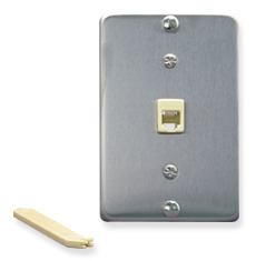 ICC Cabling Products: Stainless Steel Telephone Wall Plate