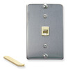 ICC IC630DA6SS Stainless Steel 6P6C Telephone Wall Plate