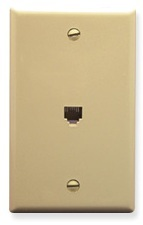 ICC Cabling Products: Ivory 6P6C Integrated Wall Plate