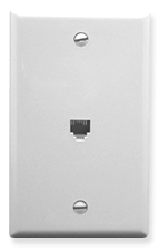 ICC Cabling Products: White 6P6C Integrated Wall Plate