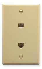 ICC Cabling Products: Ivory Dual 6P6C Integrated Wall Plate