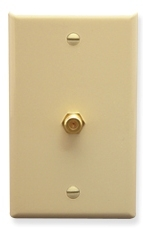 ICC Cabling Products: Ivory F Type Integrated Wall Plate
