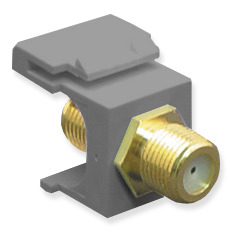ICC Cabling Products: IC107B5GGY F Connector Keystone Jack