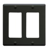 ICC Cabling Products IC107DFDBK Black 2 Gang Decora Faceplate