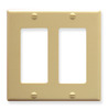ICC Cabling Products IC107DFDIV Ivory 2 Gang Decora Faceplate