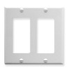 ICC Cabling Products IC107DFDWH White 2 Gang Decora Faceplate