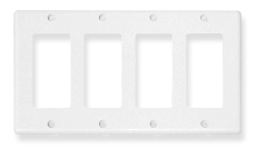 ICC Cabling Products: IC107DFQWH 4 Gang Decora Faceplate
