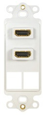 ICC Cabling Products: IC107DDHWH Dual HDMI Decora Insert