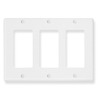 ICC Cabling Products IC107DFTWH White 3 Gang Decora Faceplate