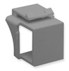 ICC Cabling Products IC107BN0GY Gray Keystone Blank Inserts 10 Pack