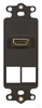 ICC IC107DH2BK Black HDMI Decora Insert with 2 Blank Ports