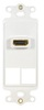ICC IC107DH2WH White HDMI Decora Insert with 2 Blank Ports