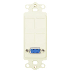 ICC Cabling Products: IC107DR4IV VGA Decora Insert