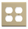 ICC IC106FP4IV Ivory 4 Port Double Gang Electrical Faceplate