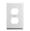 ICC IC106FP2WH White 2 Port Single Gang Electrical Faceplate