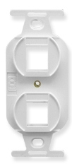 ICC Cabling Products: IC107DPIWH White 2 Port Electrical Insert
