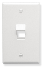 ICC Cabling Products: IC107DA1WH 1 Port Keystone Wall Plate