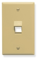ICC Cabling Products: IC107DA1IV 1 Port Keystone Wall Plate
