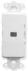 ICC IC630DI6WH White Decora Insert with Integrated RJ11 Voice Jack