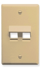 ICC Cabling Products: IC107DA2IV Ivory 2 Port Keystone Wall Plate