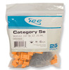 ICC IC107E5COR Orange Cat5e EZ Modular Keystone Jack 25 Pack