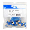 ICC IC107F5CBL Blue High Density Cat5e Modular Keystone Jack 25 Pack