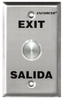 "SECO-LARM SD-7204SGEX1Q Vandal Proof ""Exit"" and ""SALIDA"" Push-to-Exit Plate"