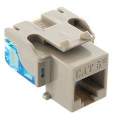 ICC Cabling Products: IC1078E5GY Cat5e Keystone Jack