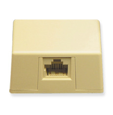 ICC Cabling Products: IC635DS4IV Ivory 8P4C Keyed Surface Mount Jack