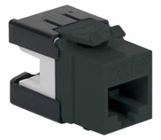 ICC Cabling Products: IC1078GABK Black Cat 6A HD Keystone Jack