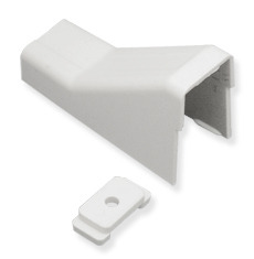 "ICC Cabling Products: ICRW33CMWH 1 1/4"" White Raceway Ceiling Entry and Clip"