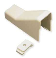 "ICC Cabling Products: ICRW22CMIV 3/4"" Ivory Raceway Ceiling Entry and Clip"