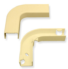 "ICC Cabling Products: ICRW33EBIV 1 1/4"" Ivory Flat Elbow & Base"