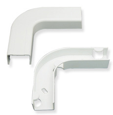 "ICC Cabling Products: ICRW33EBWH 1 1/4"" White Flat Elbow & Base"