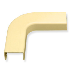 "ICC Cabling Products: ICRW33FEIV 1 1/4"" Ivory Raceway Flat Elbow"