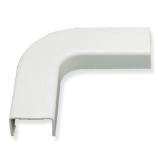 "ICC Cabling Products: ICRW33FEWH 1 1/4"" White Raceway Flat Elbow"