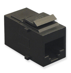 <p>ICC Cabling Products: IC107C5EBK Black Cat5e In-Line Coupler</p>